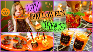 easy diy halloween treats youtube