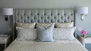 gray upholstered headboard full size u2013 glamorous bedroom design