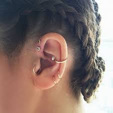 ear piercing hoop 80 layered rook piercings to accessorize your ear