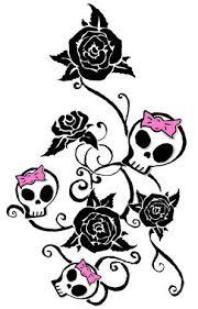 skull tattoos girly designs tattoos zimbio tattoos