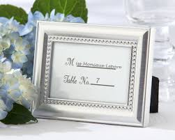 picture frame wedding favors beaded silver photo frame and placeholder