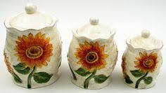 sunflower canister sets kitchen sunflower ceramic kitchen canister set sunflower