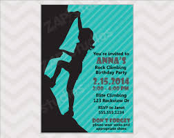 throw an awesome rock climbing party with this rock climbing