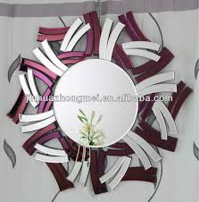 wall mirrors decorative cheap frosted round bathroom mirror
