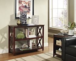 amazon com espresso occasional console sofa table bookshelf