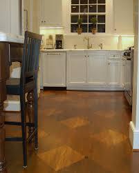 creative transitions a custom kitchen floor design