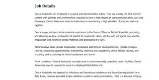dental assistant resume with no experience dental assistant