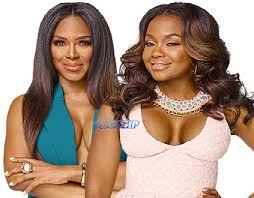 phaedra parks hairstyles kenya moore and phaedra parks face off during the rhoa reunion