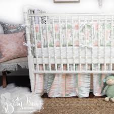 Pink And Grey Crib Bedding Sets Green Cactus Gender Neutral Baby Crib Bedding
