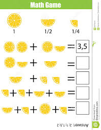 math educational counting game for children addition worksheet