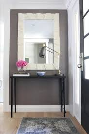 Black Foyer Table Black Foyer Table With Mirror Transitional Entrance Foyer