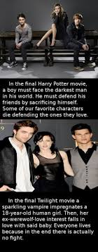 Funny Twilight Memes - tribute thursday twilight vs harry potter memes