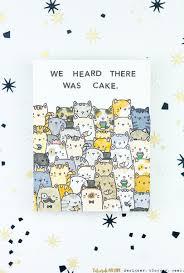 we heard there was cake kitty birthday card taheerah atchia