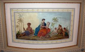 House Murals by Kansas State Capitol Online Tour House Of Representatives Hall