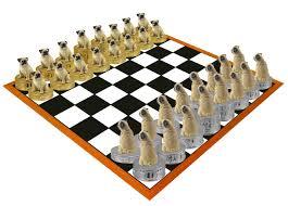 chess sets pug fawn chess set