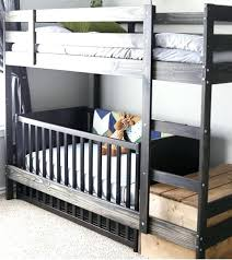 Loft Bed With Crib Underneath Bunk Bed With Crib On Bottom Bunk Beds Beautiful Bunk Bed With