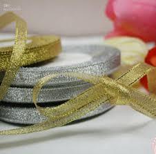 silver glitter ribbon 2018 1 roll 25 yards 3 8 metallic gold silver glitter ribbon