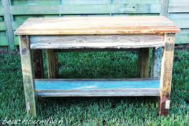 build a rustic kitchen island and bench using driftwood
