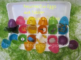 easter resurrection eggs h is for homeschooling resurrection eggs and toddler extension