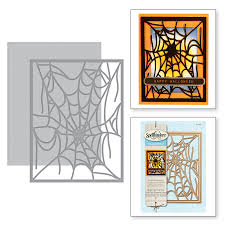 halloween dies shapeabilities spider web card front holiday 2017 etched dies