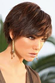 brunette short hairstyles fade haircut