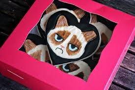 grumpy cat valentines geeky project grumpy cat cookies thurston