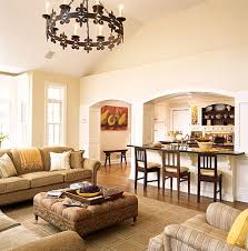 kitchen living room divider ideas large kitchen with arched pass through to living room match the