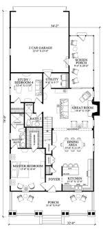 narrow floor plans narrow lot roomy feel hwbdo75757 tidewater house plan from