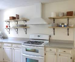 kitchen open shelving ideas spice rack ideas for small spaces self made shelves kitchen