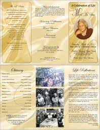 tri fold program tri fold funeral program template 11x17 bleed funeral