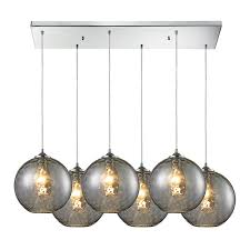 shop westmore lighting lochmere 10 in polished chrome and smoke