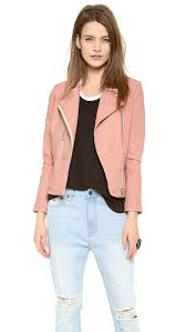 pink leather motorcycle jacket iro efia leather jacket in pink lyst