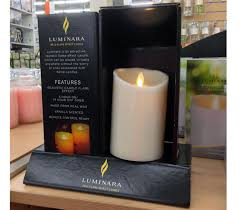 luminara candles glow in shadow box display point of purchase