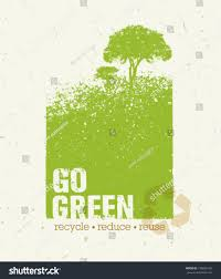 go green recycle reduce reuse eco stock vector 192893120