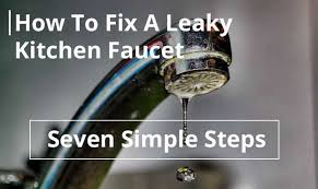 how to fix a leaky kitchen faucet with two handles step by step