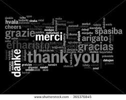 concept conceptual abstract thank you word stock illustration