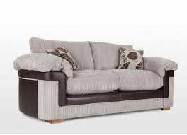High Back Settee With Arms 3 Seater Brown Fabric High Back Sofa Salvador