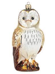 owl ornaments barn owl blown glass christmas ornament