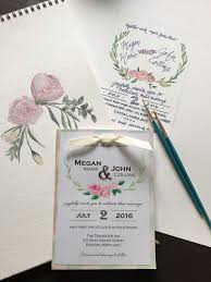 wedding invites cost diy bride hand painted wedding invitations nerdy pretty cool