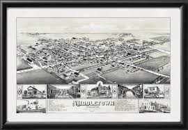 Middletown Ohio Map by Middletown De 1885 Vintage City Maps Restored City Maps