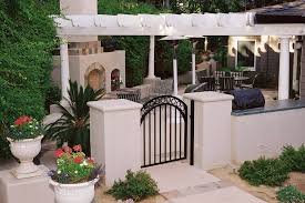 outdoor fence decoration ideas patio traditional with patio cover