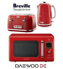Toaster And Kettle Deals Breville Impressions Red Kettle And Toaster Set U0026 Daewoo Retro
