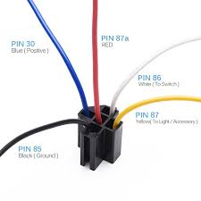12v 30 40 amp 5 pin spdt automotive relay with wires harness