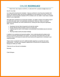 Cover Letter Personal Assistant 8 Cover Letter For Executive Assistant Position Joblettered