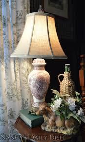 antique english transferware lamp coalport pastoral cottage scenes