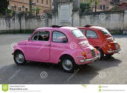 pink cars fiat pink car about town editorial stock image image of