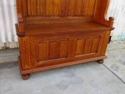 hall bench with coat rack foter