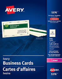 Free Avery Business Card Template by Avery皰 05376 Perforated Business Cards 2 X 3 1 2 Rectangle