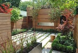 closed small yard design with a central entertaining deck pictures