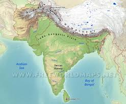 Map Nepal India by South Asia Physical Map
